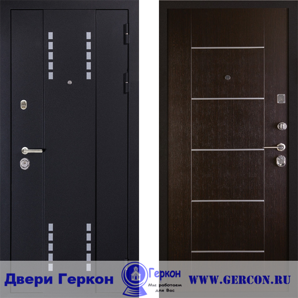 железные двери на этаже