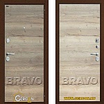 Стальная дверь Groff Т3-300 Tobacco Oak/Natural Oak